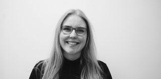 Inger Erla Thomsen nemandi í Menntaskólanum að Laugarvatni.