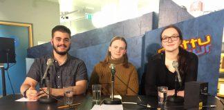 Lið FSu 2017: Jakob, Ísak Þór og Vilborg María.