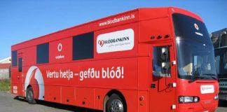 Blóðbankabíllinn á Selfossi