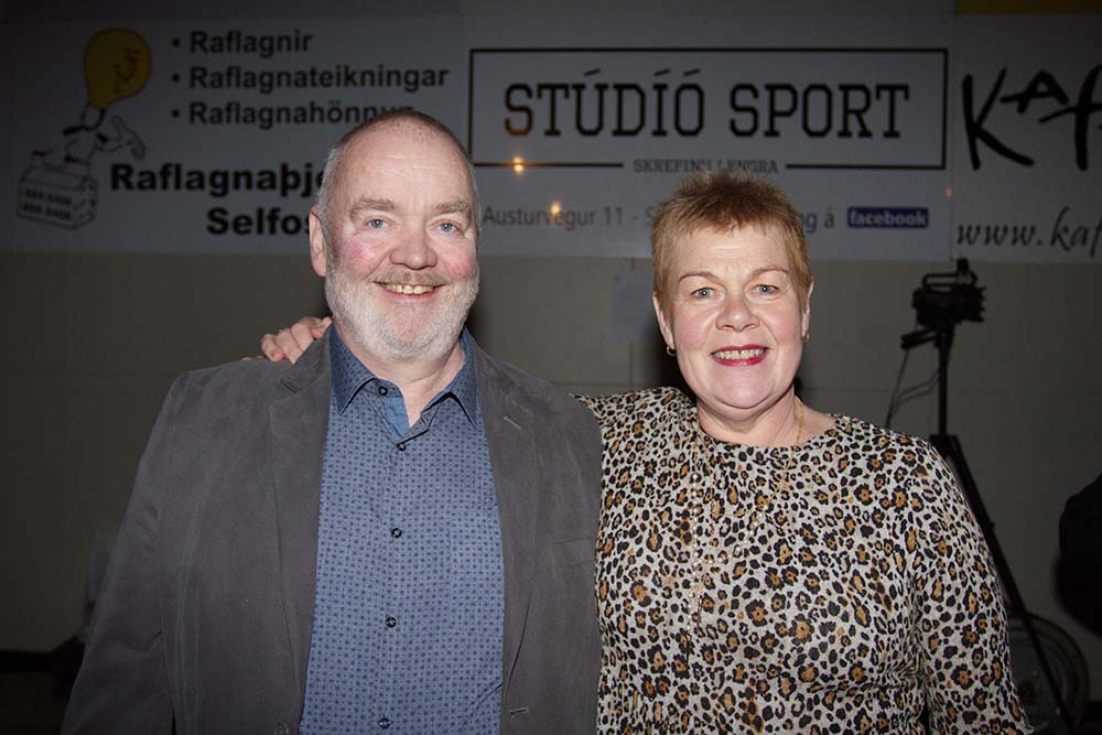 Guðjón Egilsson og Guðný Sigurgeirsdóttir létu sig ekki vanta.