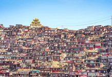 Larung Gar, Tibet. Mynd: David Hand.