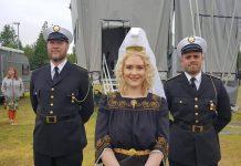 Fjallkonan flutti ljóð sitt eins og hefð er fyrir á 17. júní.