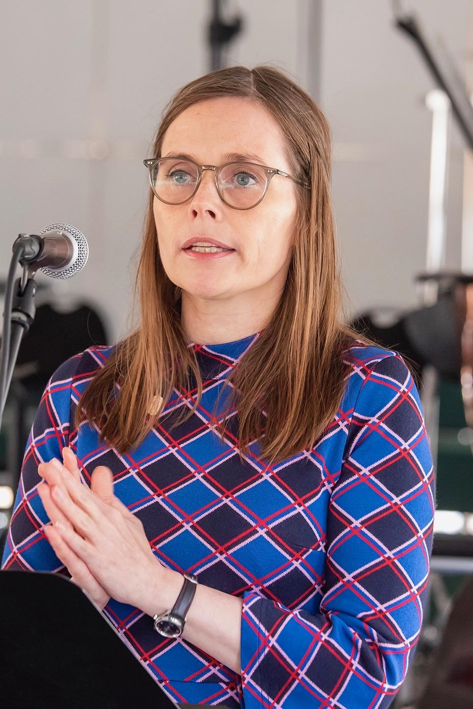 Katrín Jakobsdóttir, forsetisráðherra Íslands.